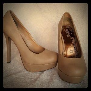 Nude colored heels